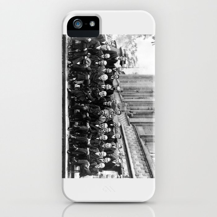 World-Renowned Physicists of 1927 at Solvay Conference iPhone Case