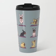 Frenchie Yoga Travel Mug