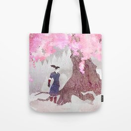 Tengami - Winter Cherry Tree (Portrait) Tote Bag