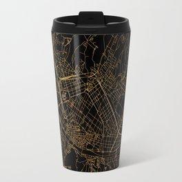 Black and gold Florence map Travel Mug