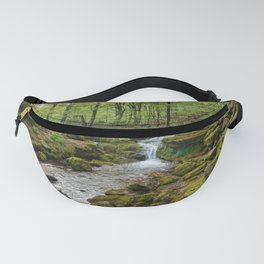 Green Stream Wide Fanny Pack