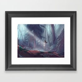 How to be a Werewolf: Malaya in the Forest Framed Art Print
