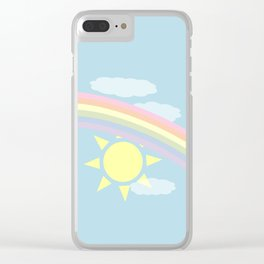 Pastel Rainbow Clear iPhone Case