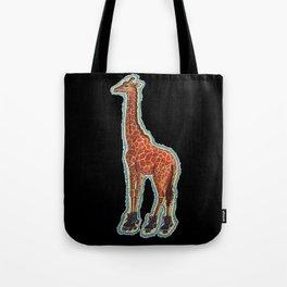 Giraffe On Roller Skates Tote Bag