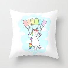 Unicorn Glide Throw Pillow