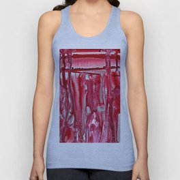 Crimson Winter Landscape Unisex Tank Top