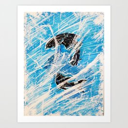 Frozen Fish Art Print