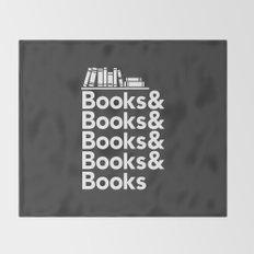 Books & Books & Books Throw Blanket