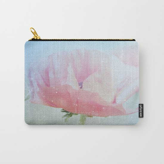 Snowflakes Poppies Carry-All Pouch