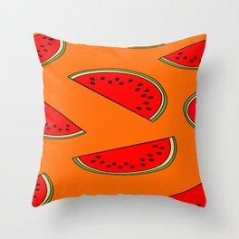 Melon fruit pattern Throw Pillow