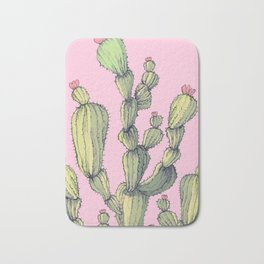 Big Cactu on Pink Bath Mat