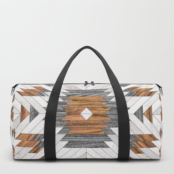 Urban Tribal Pattern 8 - Aztec - Wood Duffle Bag