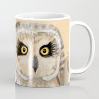 loish Mugs featuring Short Eared Owl #2 by Visual Condyle