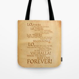 Viking Prayer Tote Bag