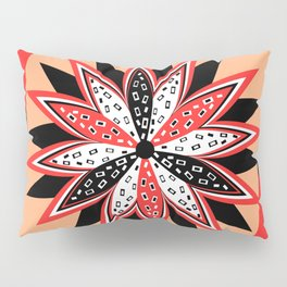 Floral red and black Pillow Sham