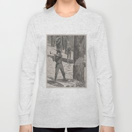 Vintage Illustration of a Lumberjack (1871) Long Sleeve T-shirt