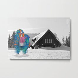 Unseen Monsters of Mount Shasta - Tooschtick Huntsie Metal Print