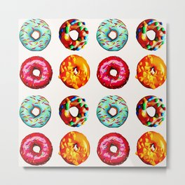 Donuts on white Metal Print