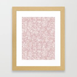 crisscross-pink Framed Art Print