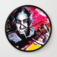 allyson johnson Wall Clocks featuring Robert Johnson by Matteo Lotti