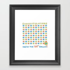 100th Collar! Framed Art Print