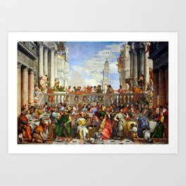 "Veronese (Paolo Caliari) ""The Wedding at Cana"" Art Print"