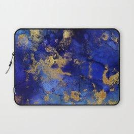 Gold And Blue Indigo Malachite Marble Laptop Sleeve
