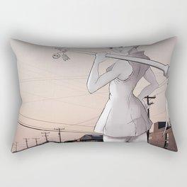 Pickaxe Girl Rectangular Pillow