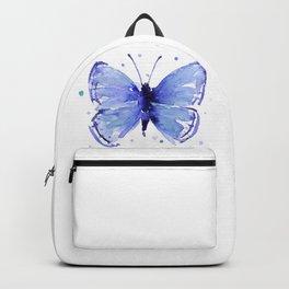 Dark Blue Butterfly Watercolor Backpack