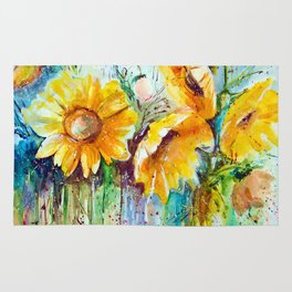 bouquet of sunflowers Rug