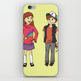The Mystery Twins iPhone Skin