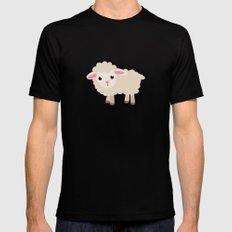 good luck sheep Mens Fitted Tee MEDIUM Black