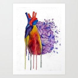 Heart vs. Mind Art Print