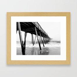 Avalon Pier Kill Devil Hills, NC Framed Art Print