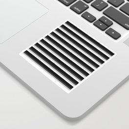 Stripes Black Gray & White Ombre Sticker