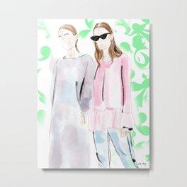 Street Style Ladies Metal Print