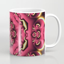 Fantasy flower kaleidoscope with optical effects Coffee Mug
