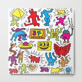 Sketches homage to Keith Haring Metal Print