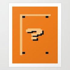Minimalist Question Block Art Print