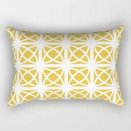 Mid Century Modern Atomic Rings 621 Yellow Rectangular Pillow