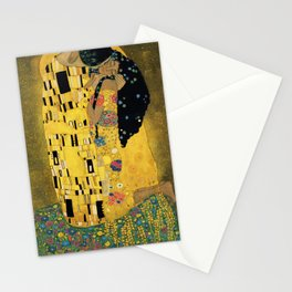 Curly version of The Kiss by Klimt Stationery Cards