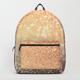 Cozy Copper Espresso Brown Ombre Autumnal Mermaid Glitter Backpack