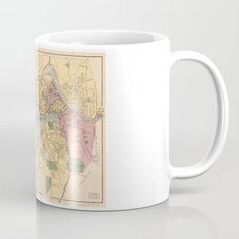 Map of Lowell, Massachusets (1881) Coffee Mug