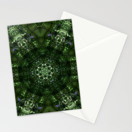 Watery Orbitals Mandala 2 Stationery Cards