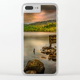 Gwynant Lake Old Boat House Clear iPhone Case