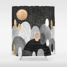 Little Land of Pebbles / Night Shower Curtain