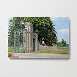 Calvary Cemetery Gate III Metal Print