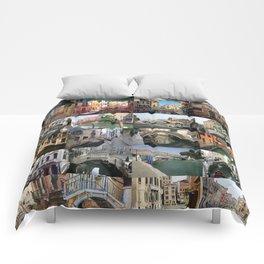 Venice Bridges Montage Comforters