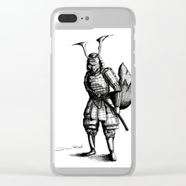 Samurai Fox Clear iPhone Case
