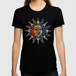 Celestial Mosaic Sun and Moon T-shirt